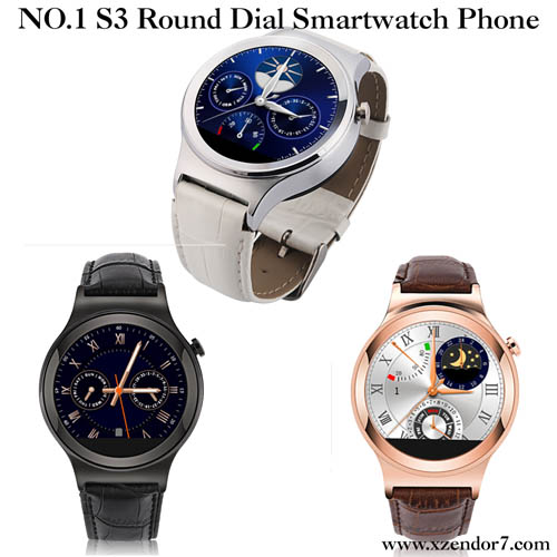 NO.1 S3 Round Dial Smartwatch Phone