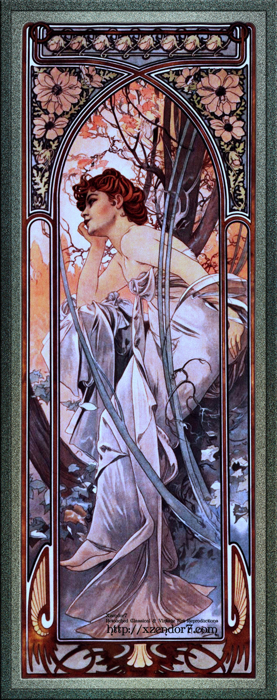 Evening Reverie by Alphonse Mucha