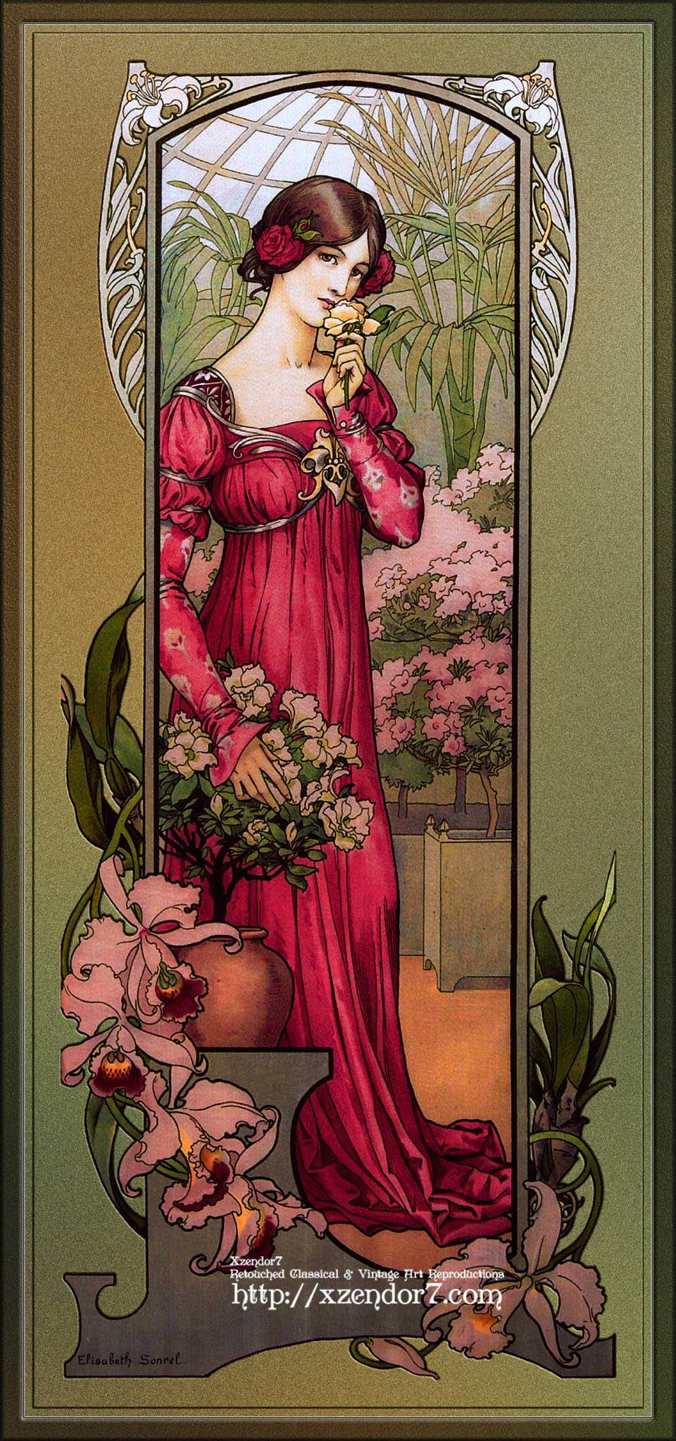 Flowers Of Gardens by Élisabeth Sonrel