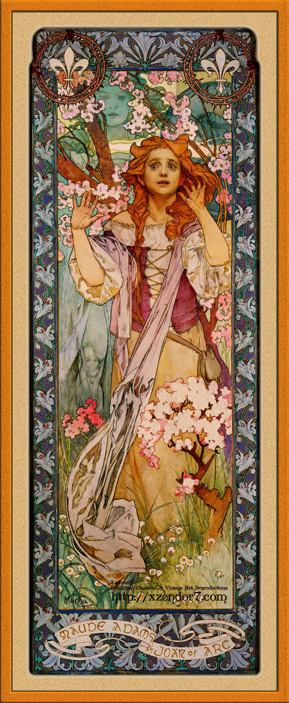 Maude Adams as Joan of Arc by Alphonse Mucha