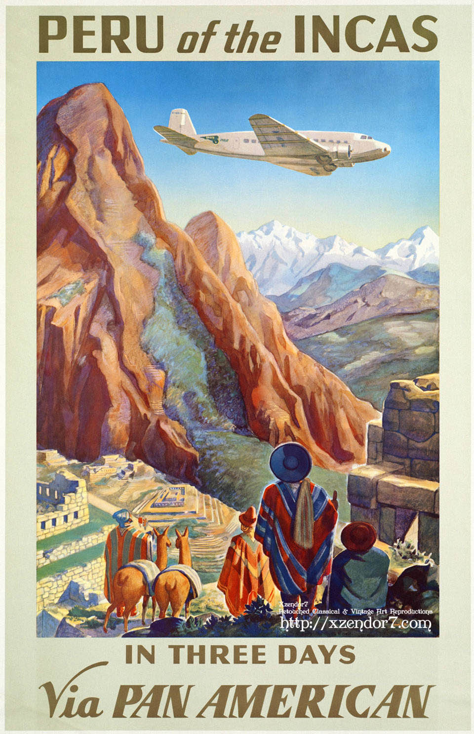 Peru of the Incas Travel Poster Art
