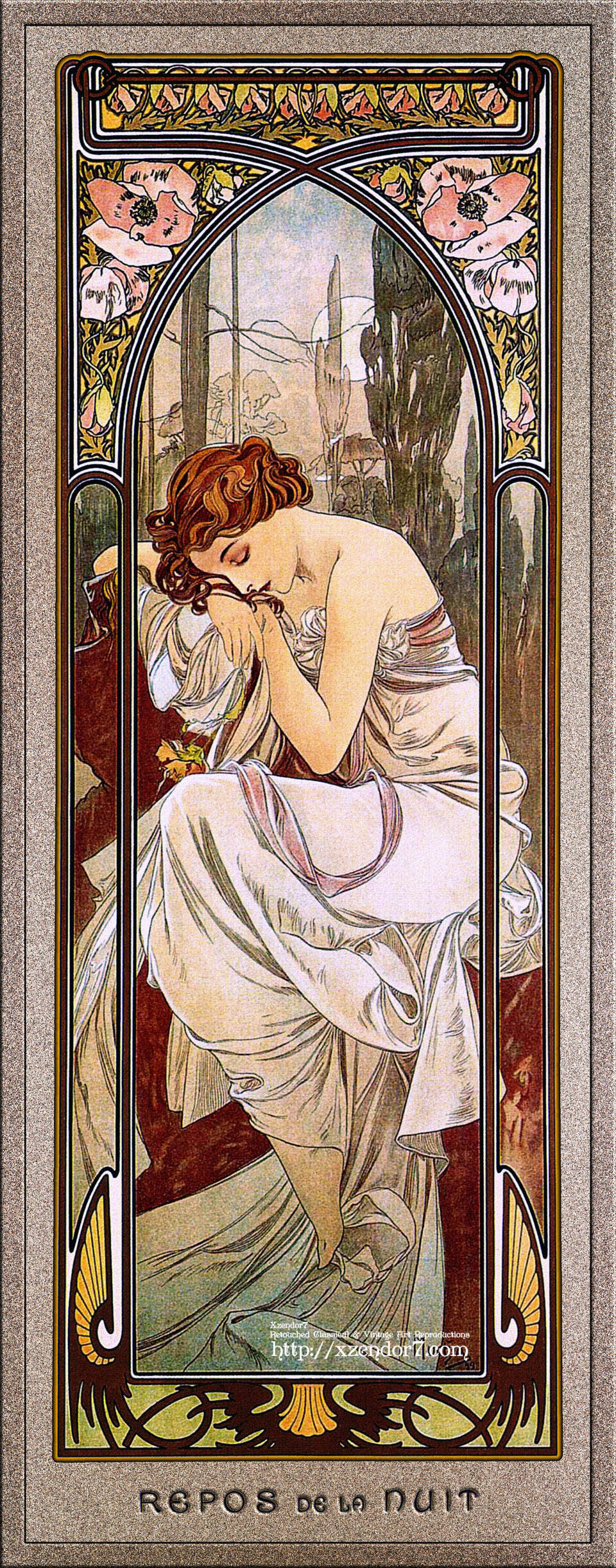 Rest Of The Night by Alphonse Mucha