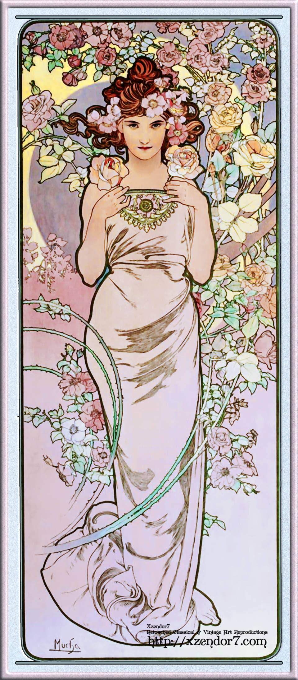 Rose by Alphonse Mucha