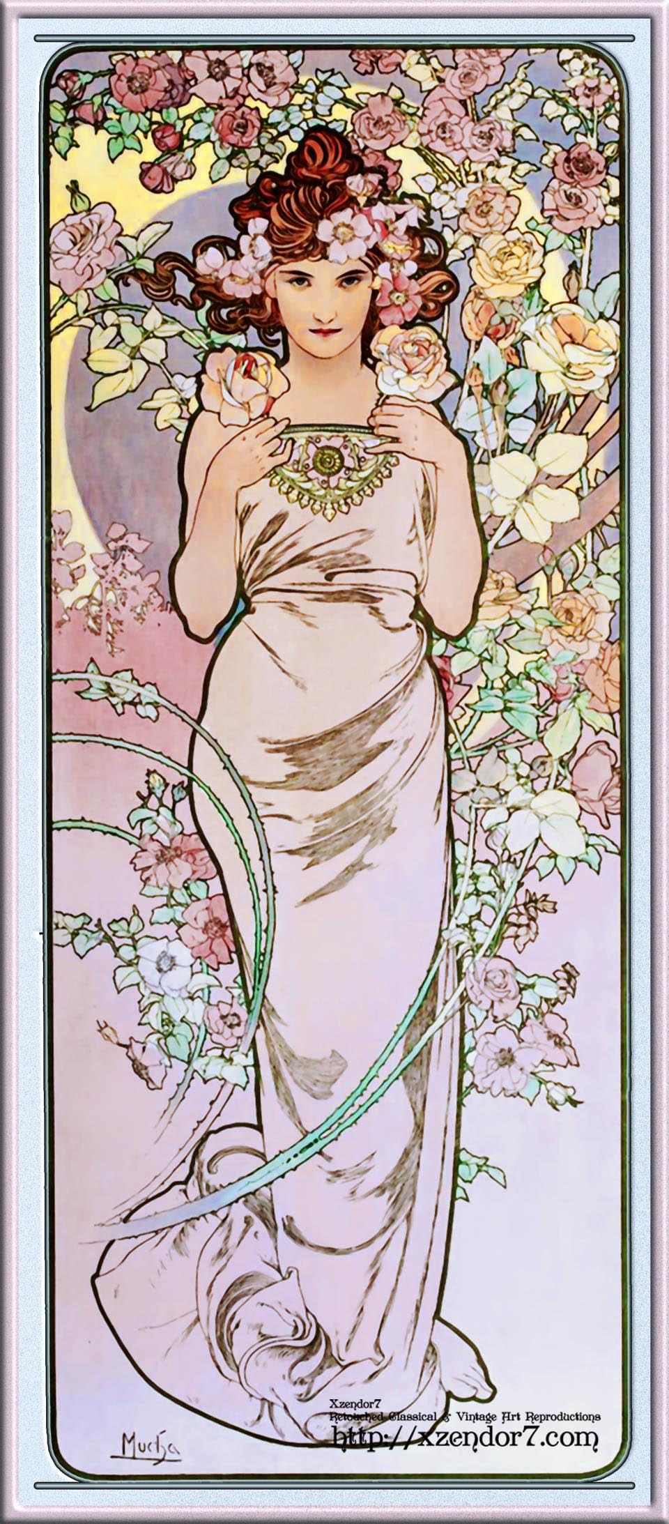 Rose by Alphonse Mucha