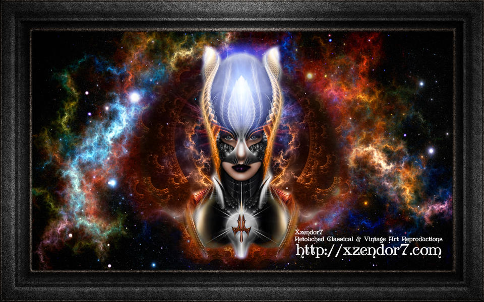 The Arzookian Princess Of Nebulous Four Fractal Art