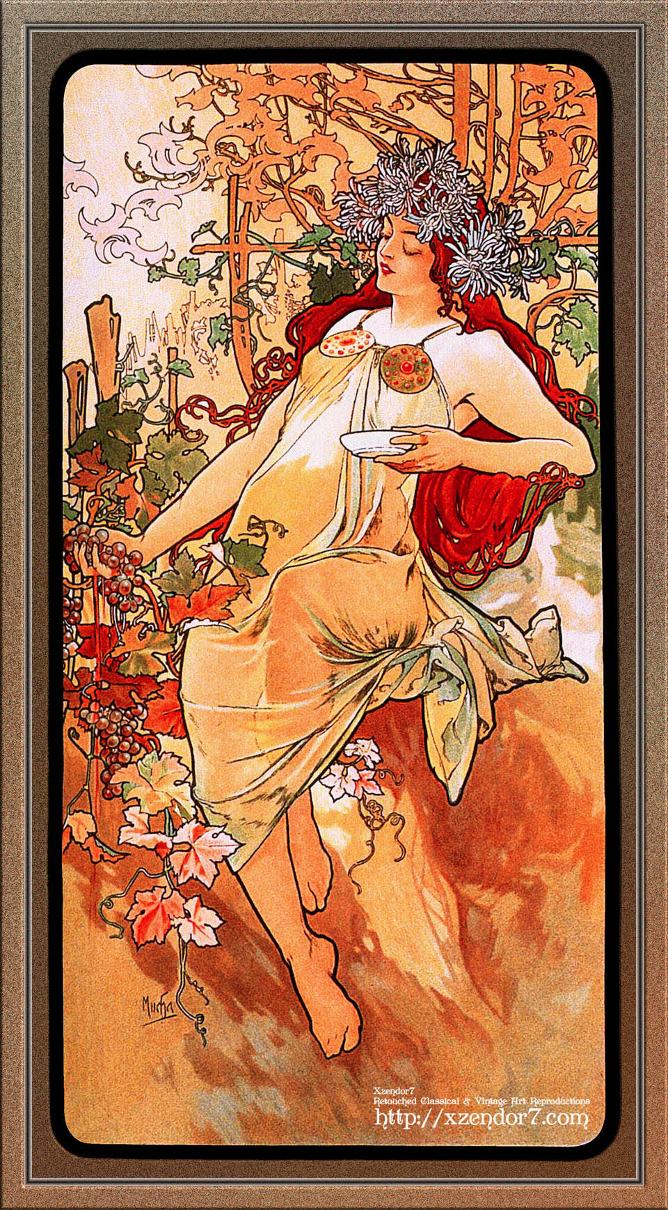 The Autumn by Alphonse Mucha