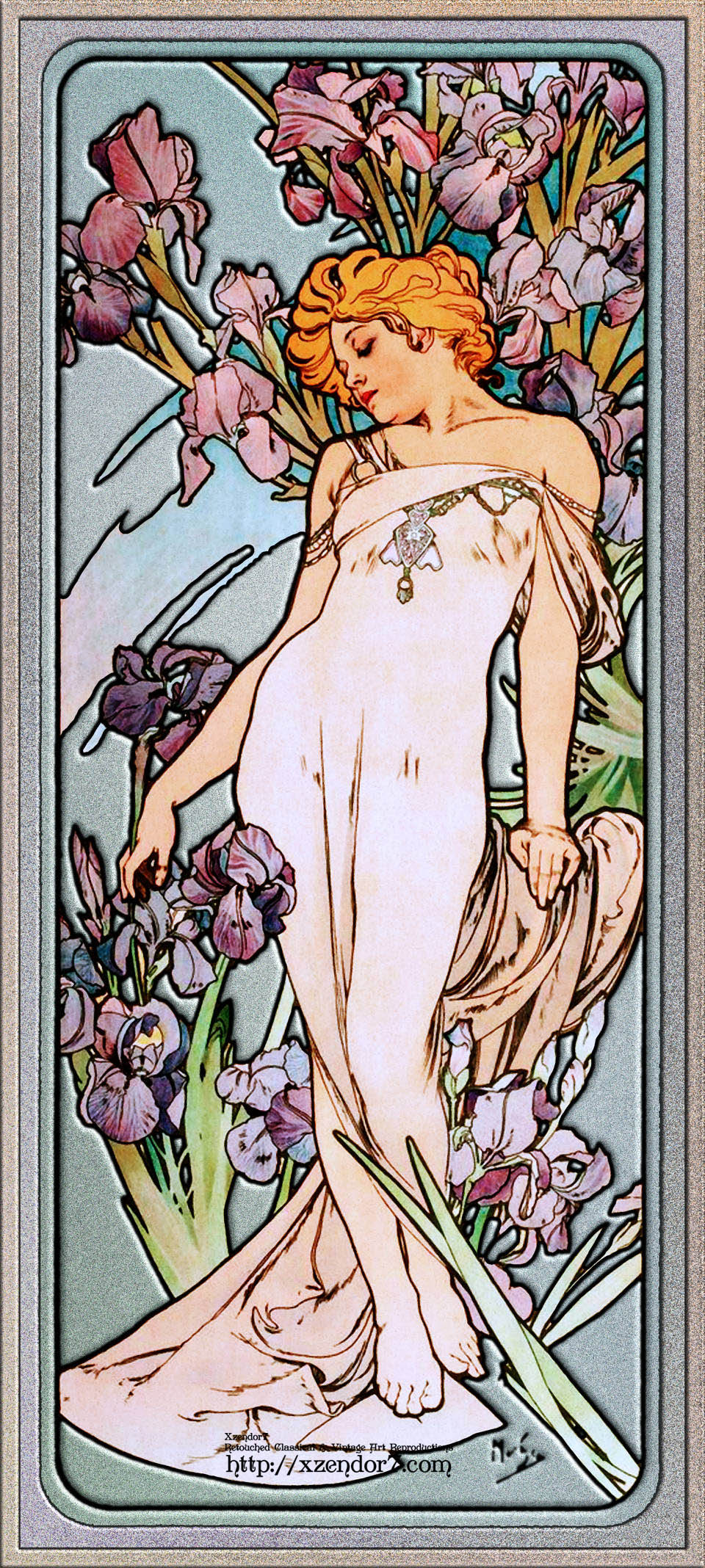 The Iris by Alphonse Mucha