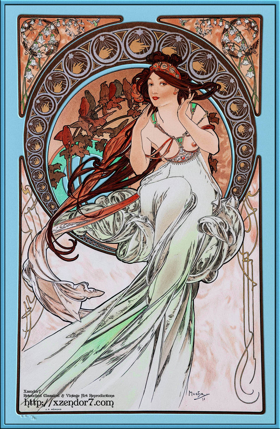 The Music by Alphonse Mucha