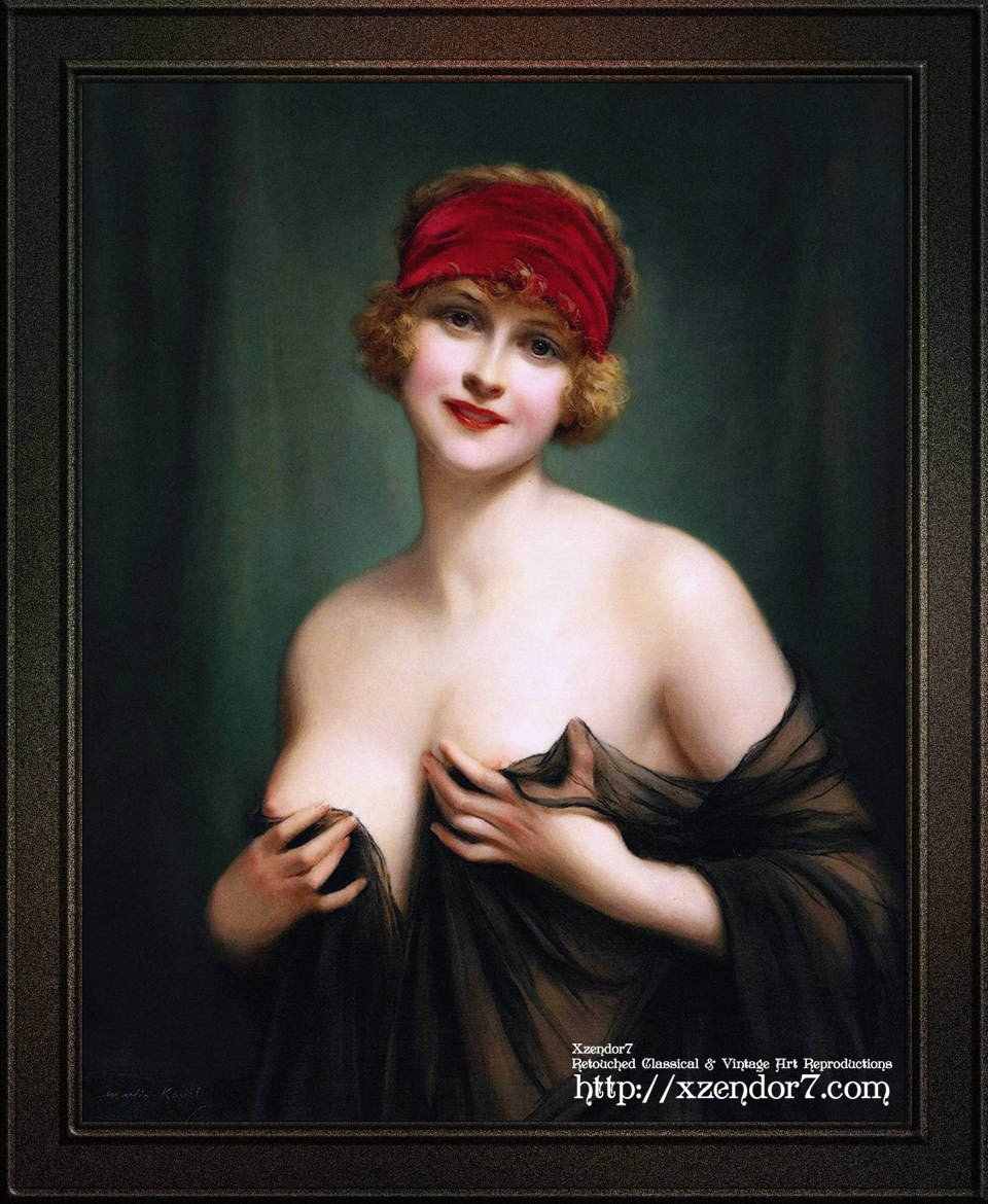 Young Woman In A Negligee by Francois Martin-Kavel