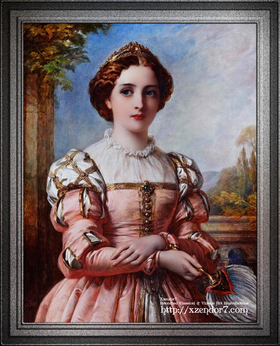 Beatrice by Thomas-Francis Dicksee - Portrait Of A Lady