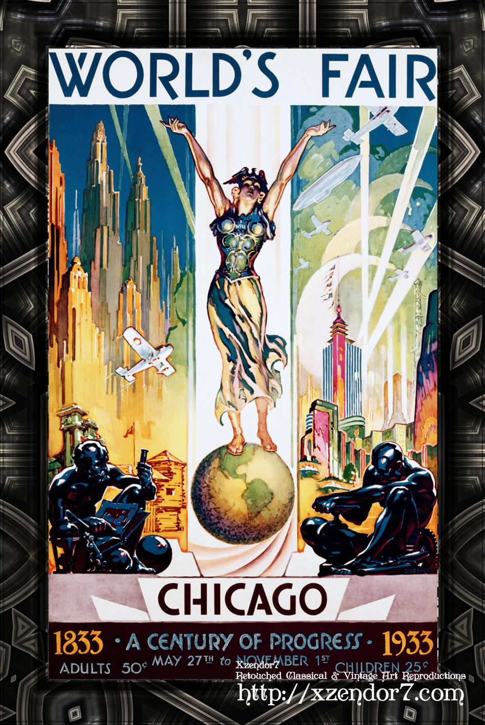 Chicago World's Fair - A Century of Progress Vintage Art Poster