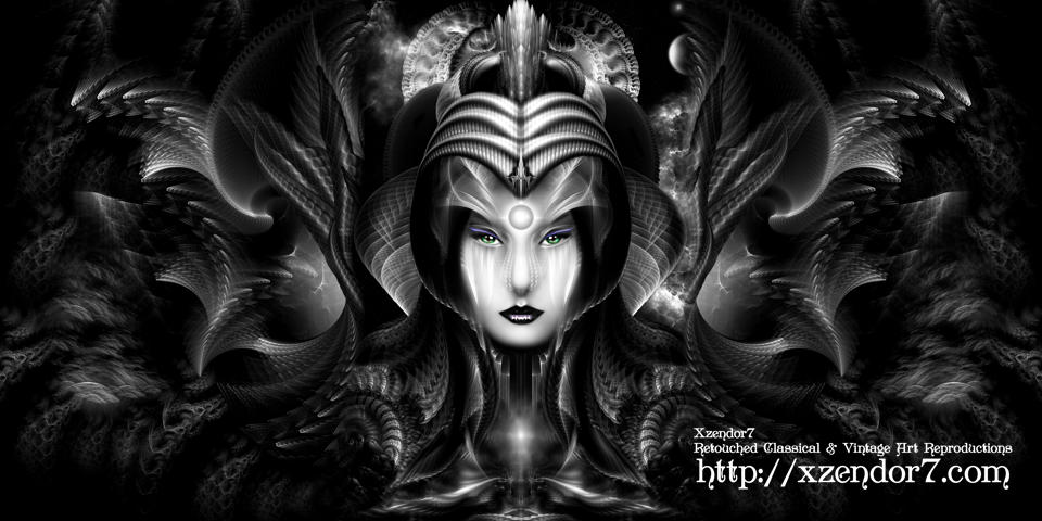 Cyiria Queen Of The Dark Realm Fractal Art Fantasy Portrait
