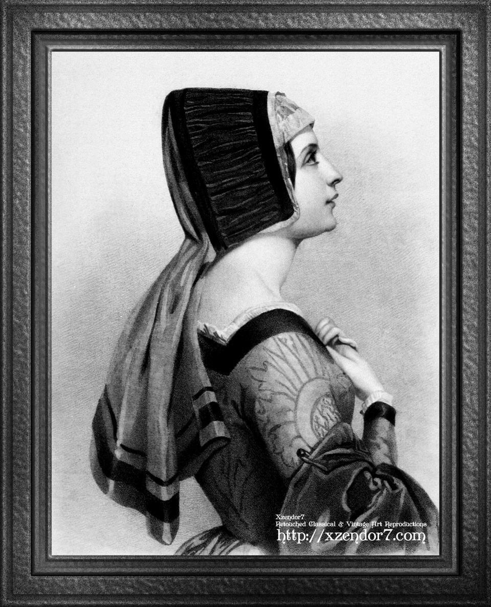 Elizabeth Woodville Portrait Engraving