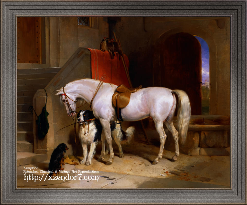 Favourites, the Property of H.R.H. Prince George of Cambridge by Sir Edwin Henry Landseer