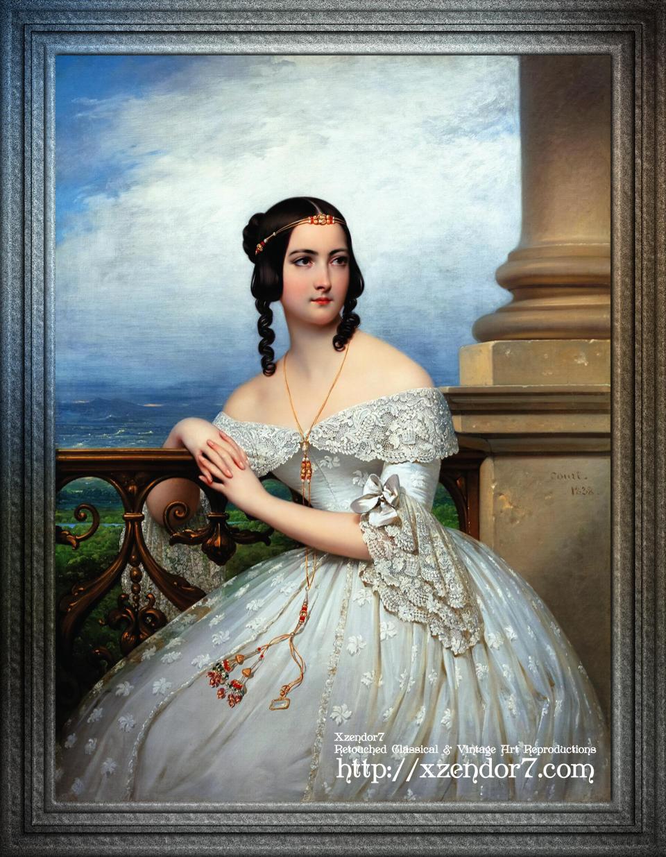 Portrait Of Miss White by Joseph Désiré Court
