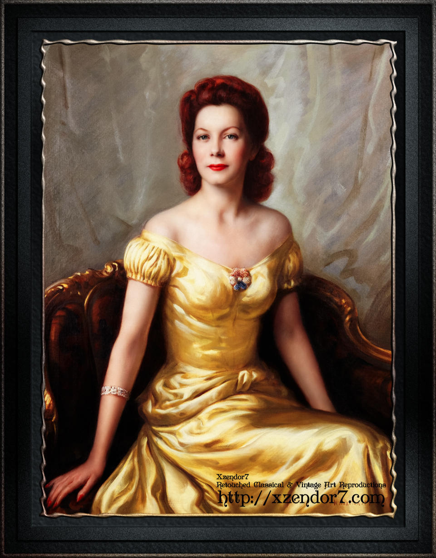 Portrait Of A Lady by Nikolai Vasilievich Kharitonov