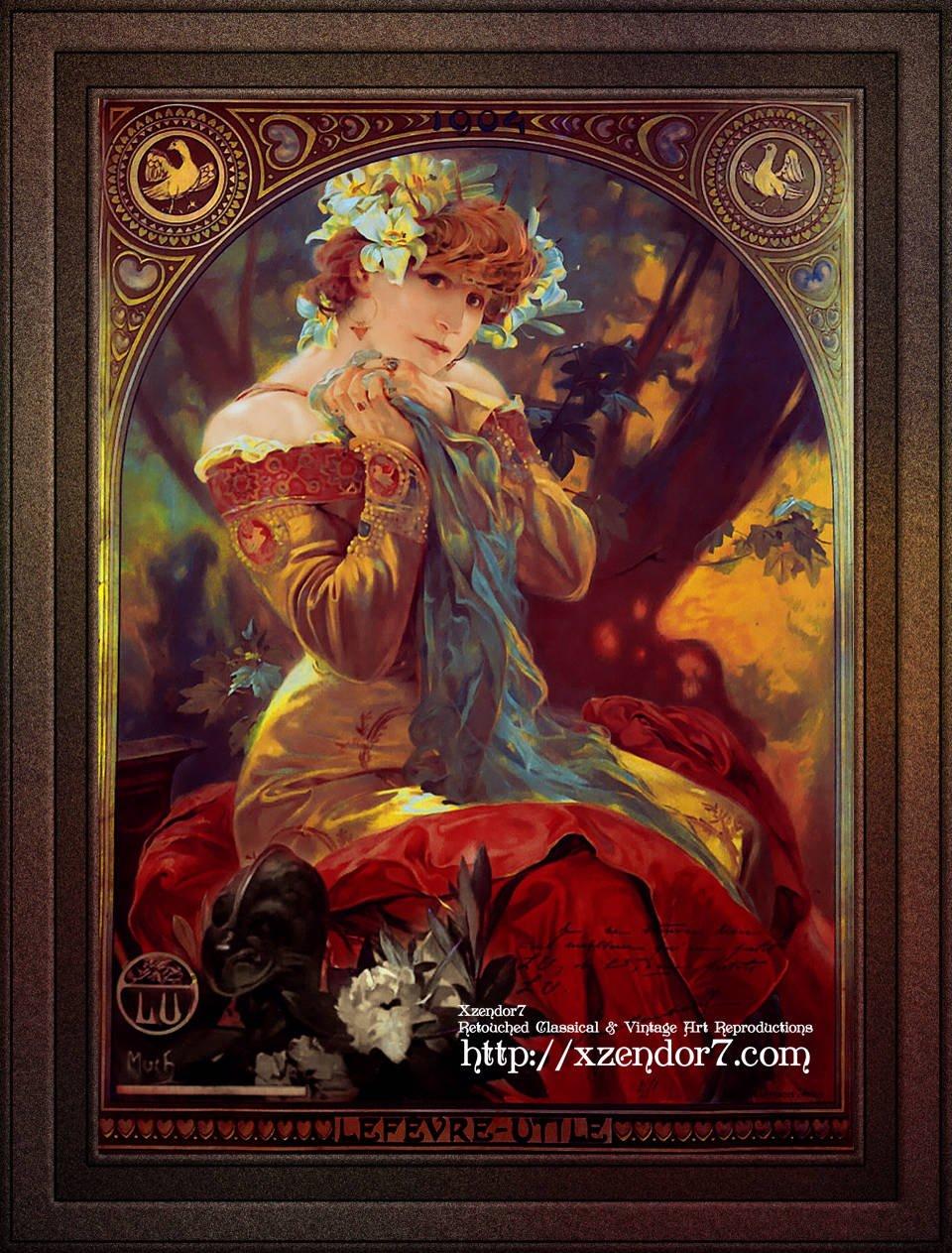 Sarah Bernhardt In La Princesse Lointaine by Alphonse Mucha