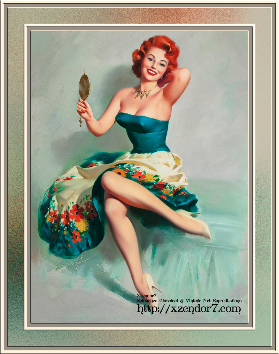 Blossoming Beauty Pin-up by Bill Medcalf