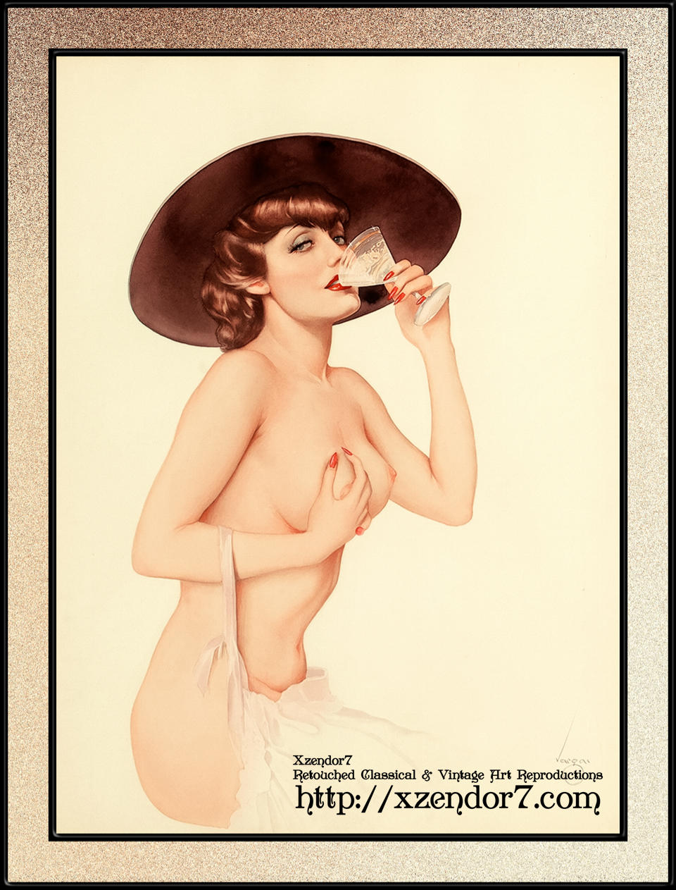 Champagne by Alberto Vargas