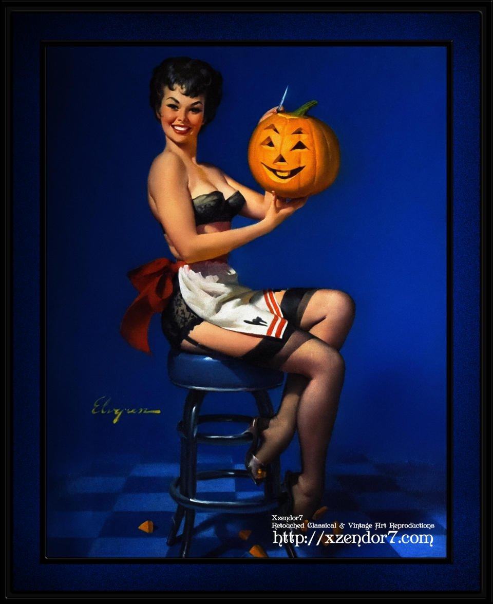 Halloween Pin-up by Gil Elvgren