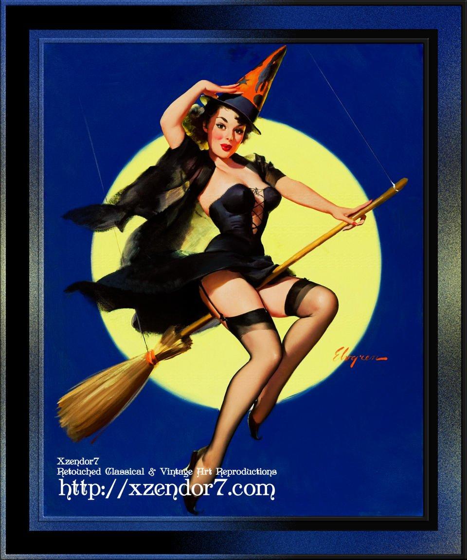 Halloween Witch by Gil Elvgren
