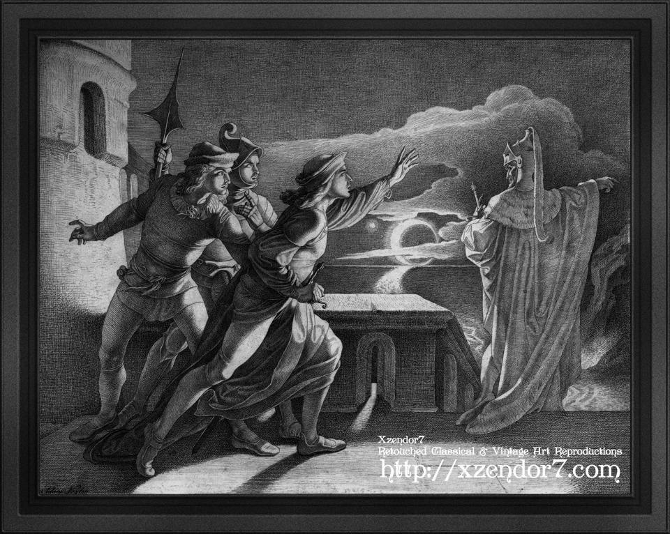 Hamlet and the Ghost of his Father by Adam Vogler