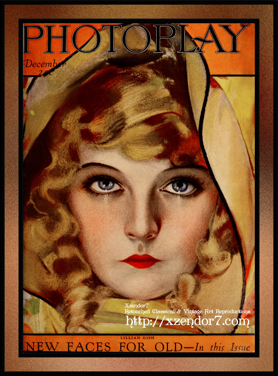 Lillian Gish, Photoplay Magazine, December 1921 by Rolf Armstrong