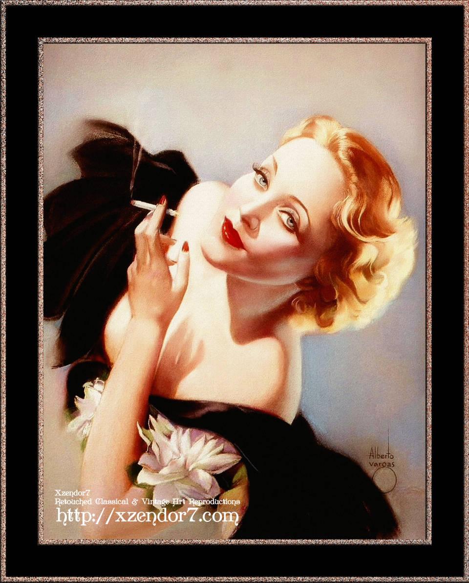 Marlene Dietrich Poses For Alberto Vargas
