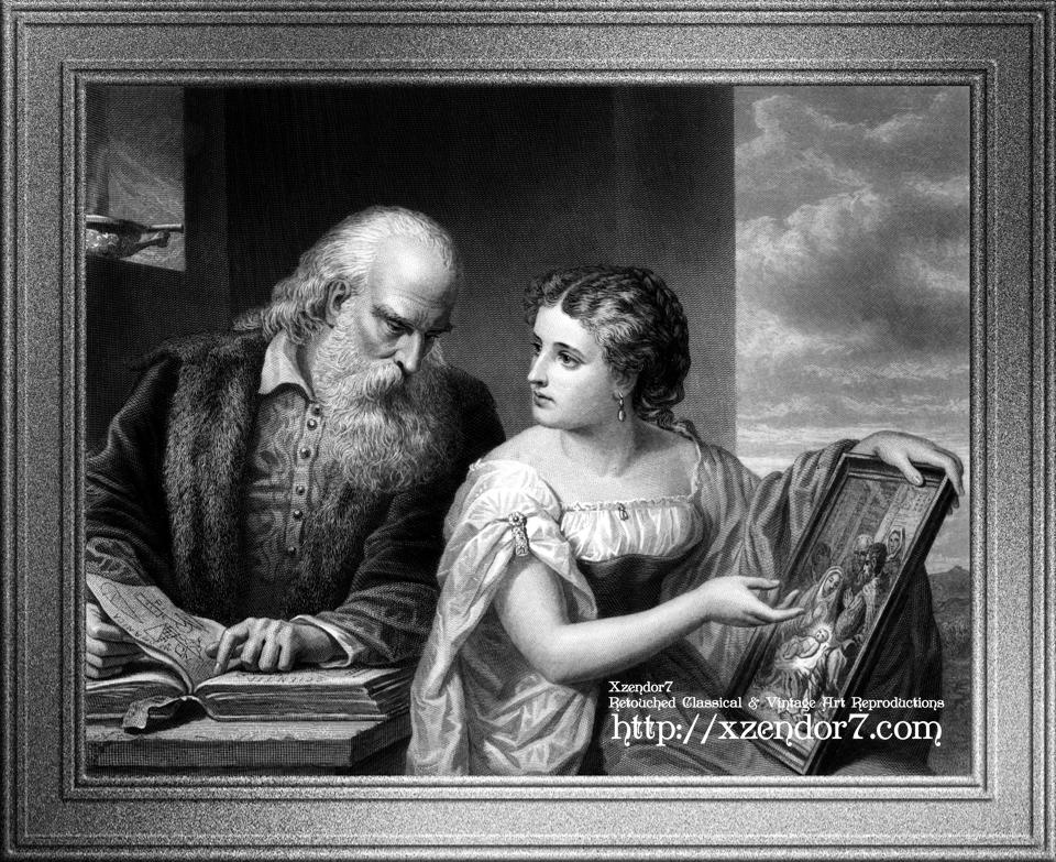 Philosophy and Christian Art Engraving by W. Ridgway