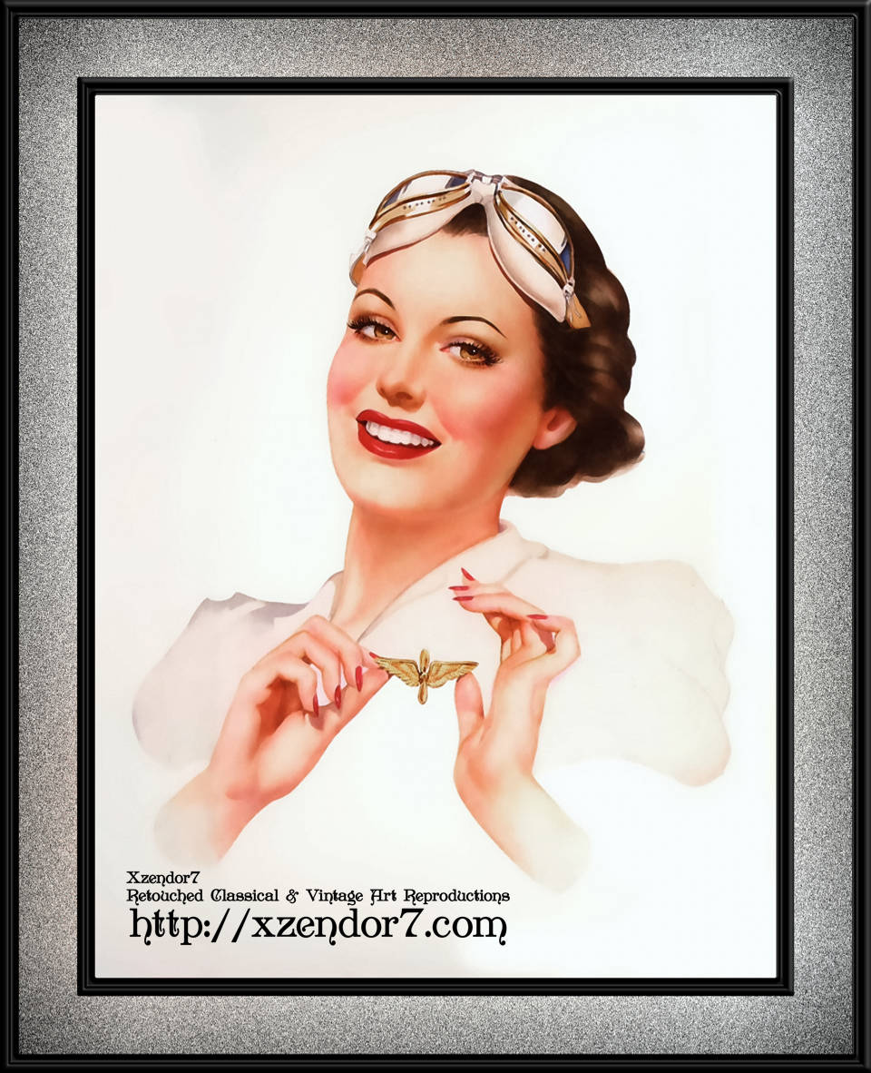She's Got Her Wings by Alberto Vargas