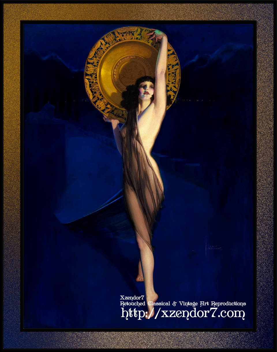 The Enchantress Art Deco Pin-up by Rolf Armstrong
