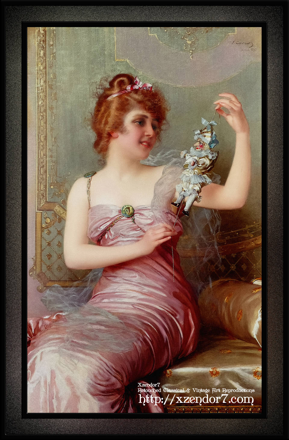 he Play Thing by Vittorio Matteo Corcos