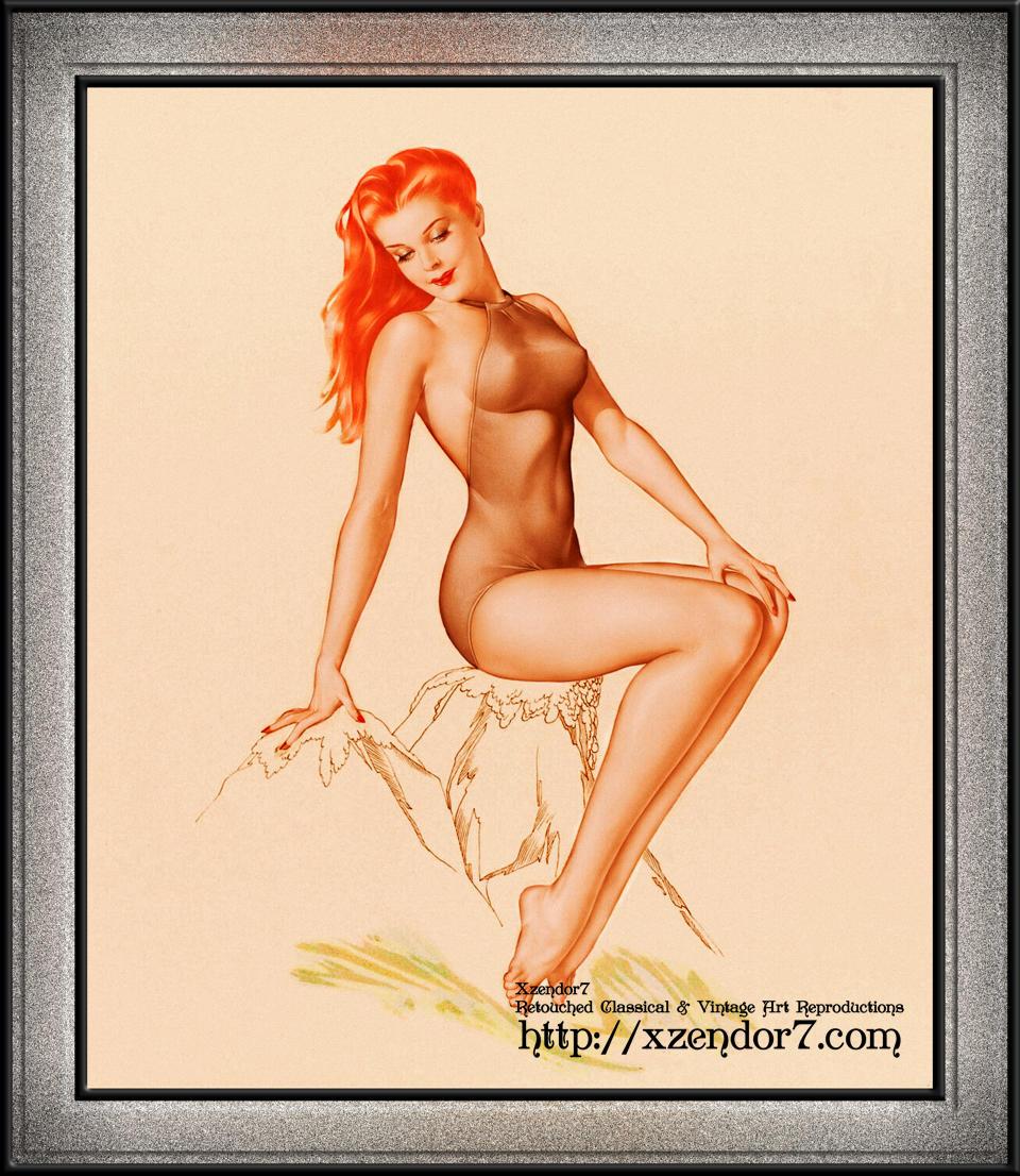 Varga Girl 1946 Pin-up Art by Alberto Vargas
