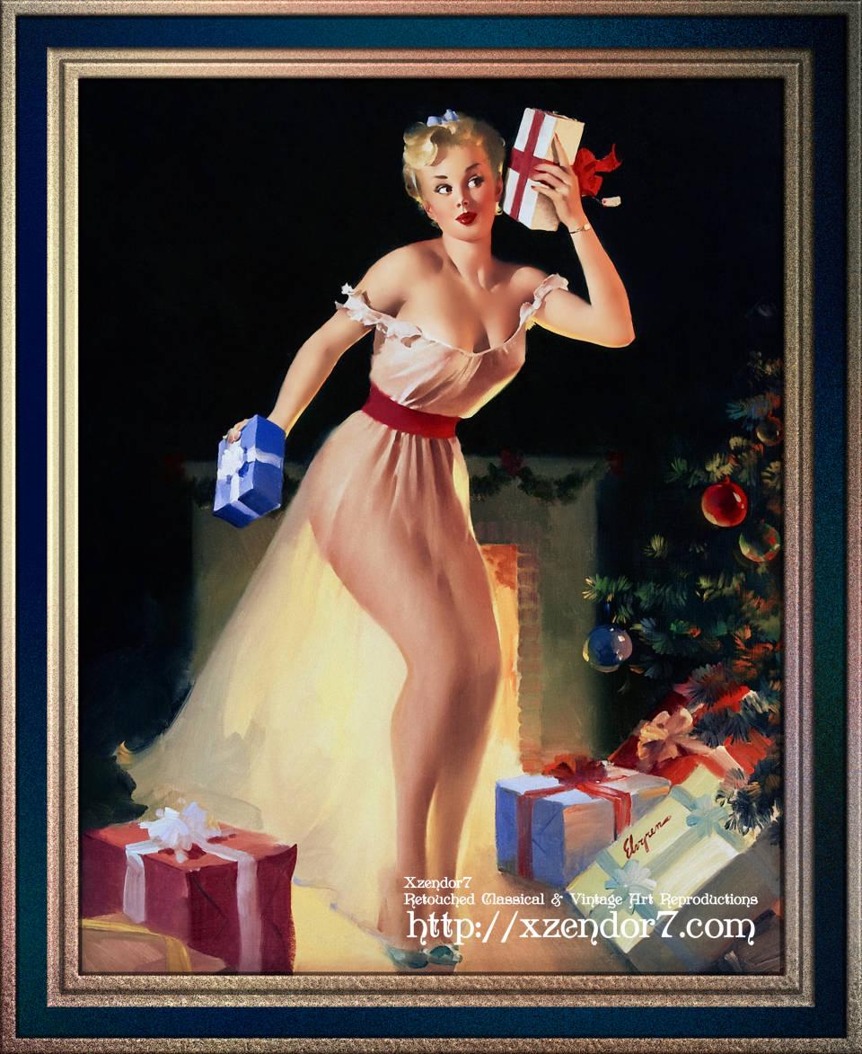 A Christmas Eve by Gil Elvgren