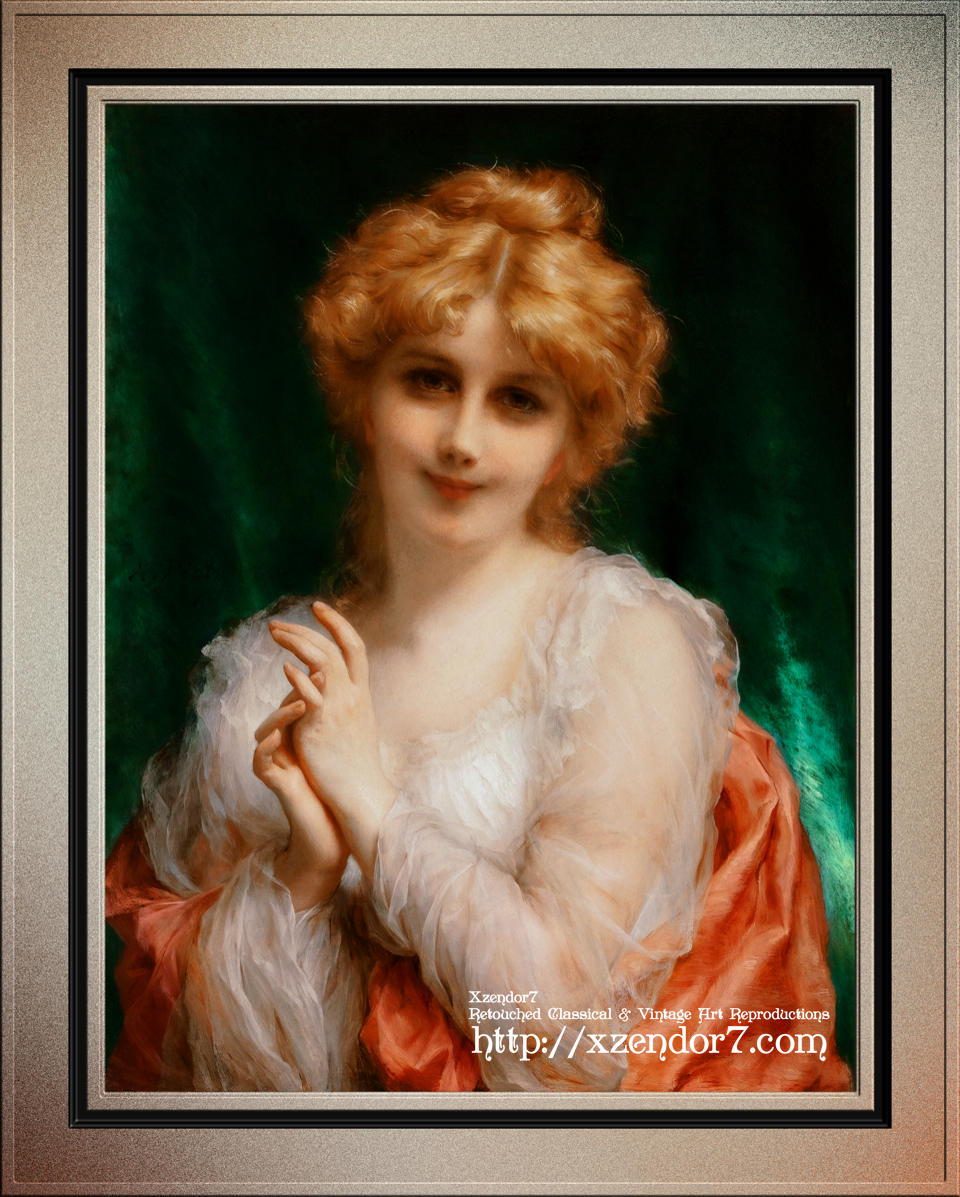 A Golden Haired Beauty by Etienne Adolphe Piot
