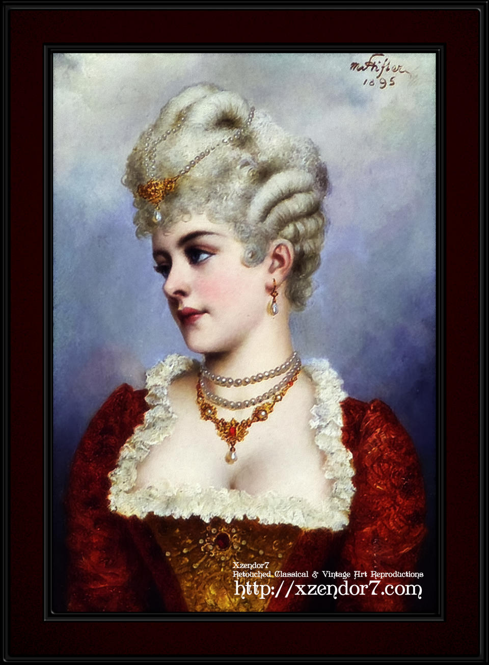 Portrait Of A Young Beauty by Moritz Stifter