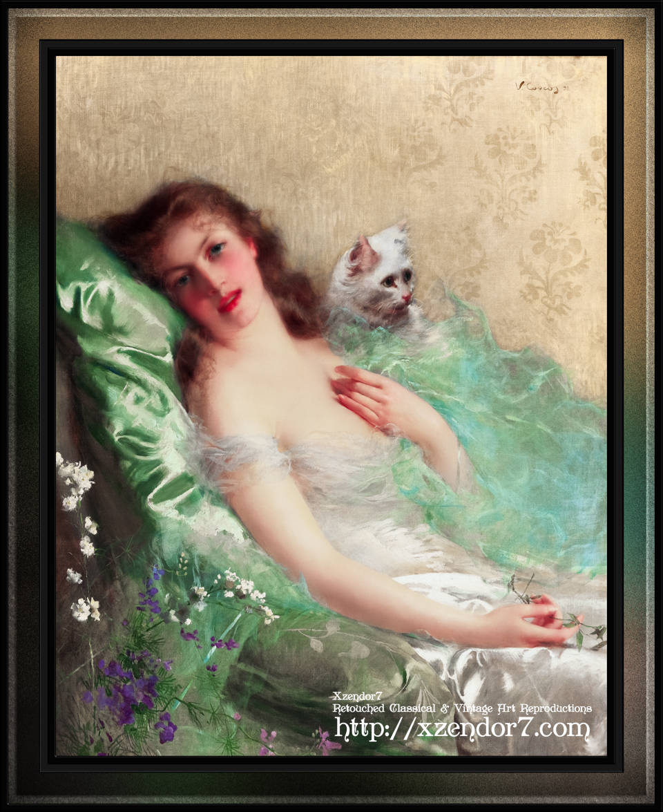 The White Cat by Vittorio Matteo Corcos