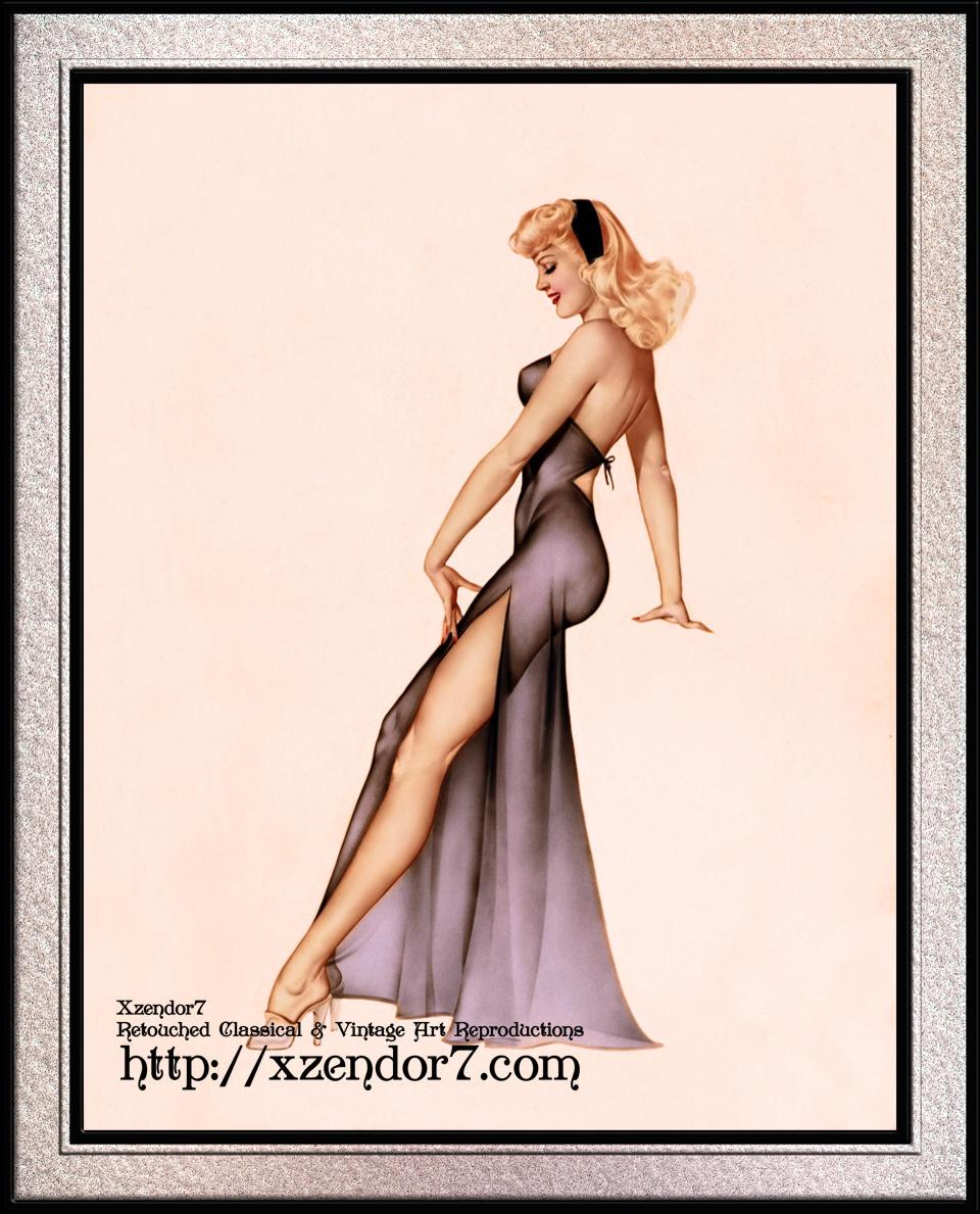 Esquire Calendar Girl 1946 by Alberto Vargas