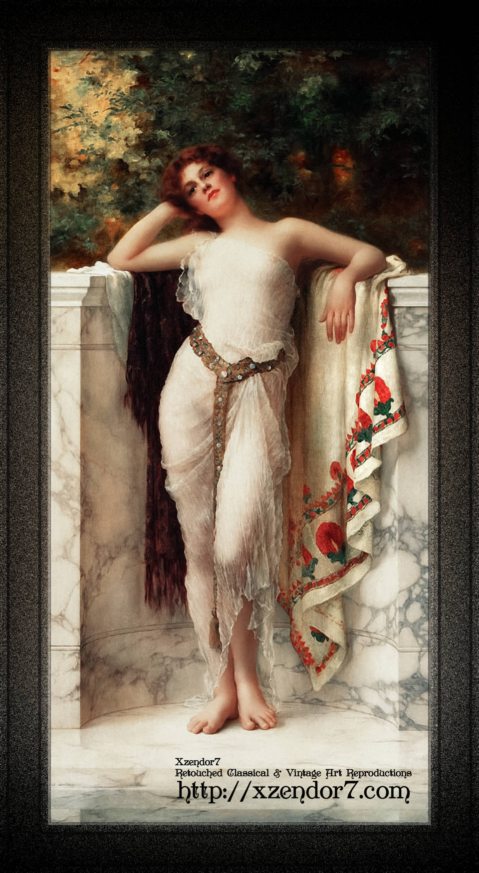 A Classical Beauty Lost In Thought by William Clarke Wontner