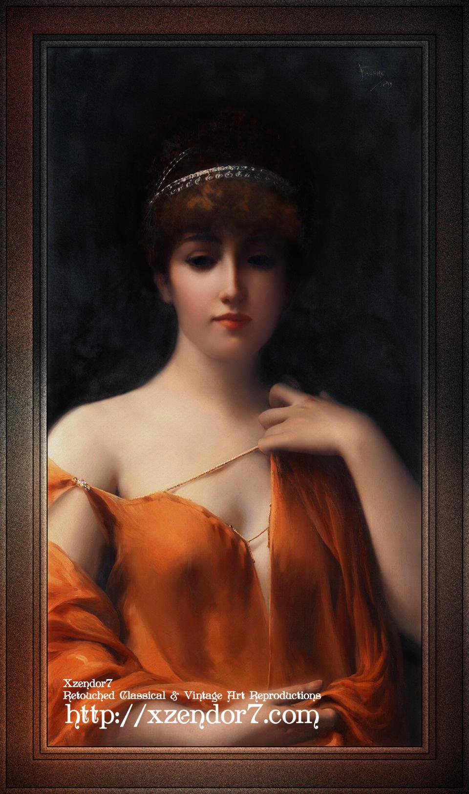 A Classical Beauty by Luis Ricardo Falero