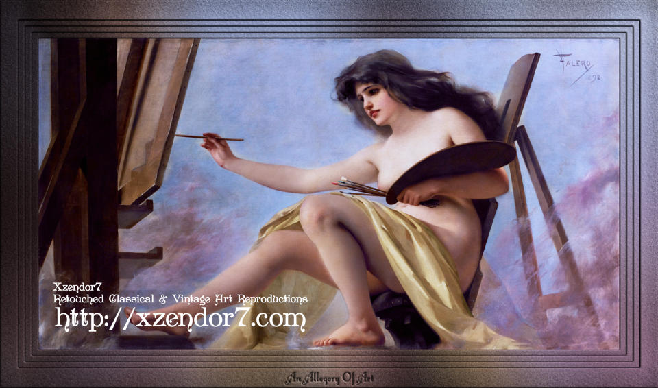 An Allegory Of Art by Luis Ricardo Falero