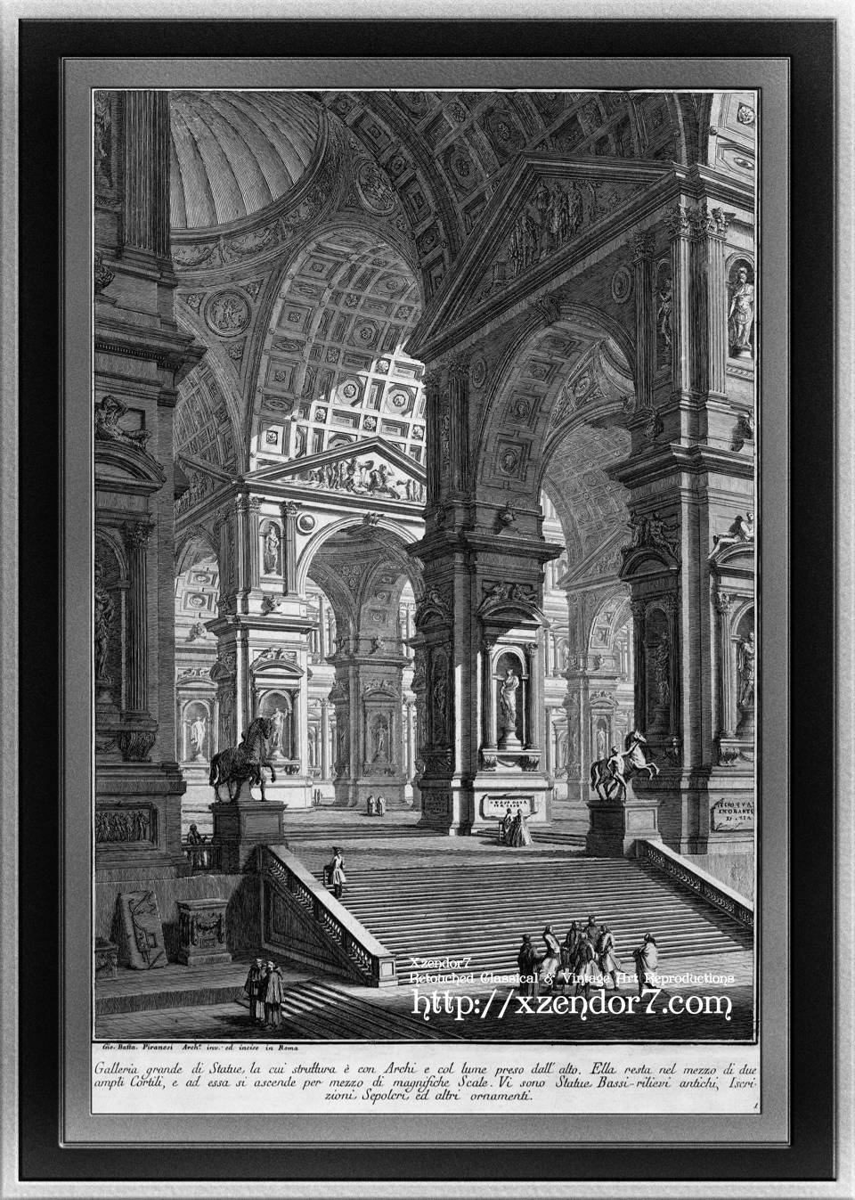 Large Sculpture Gallery Built On Arches by Giovanni Battista