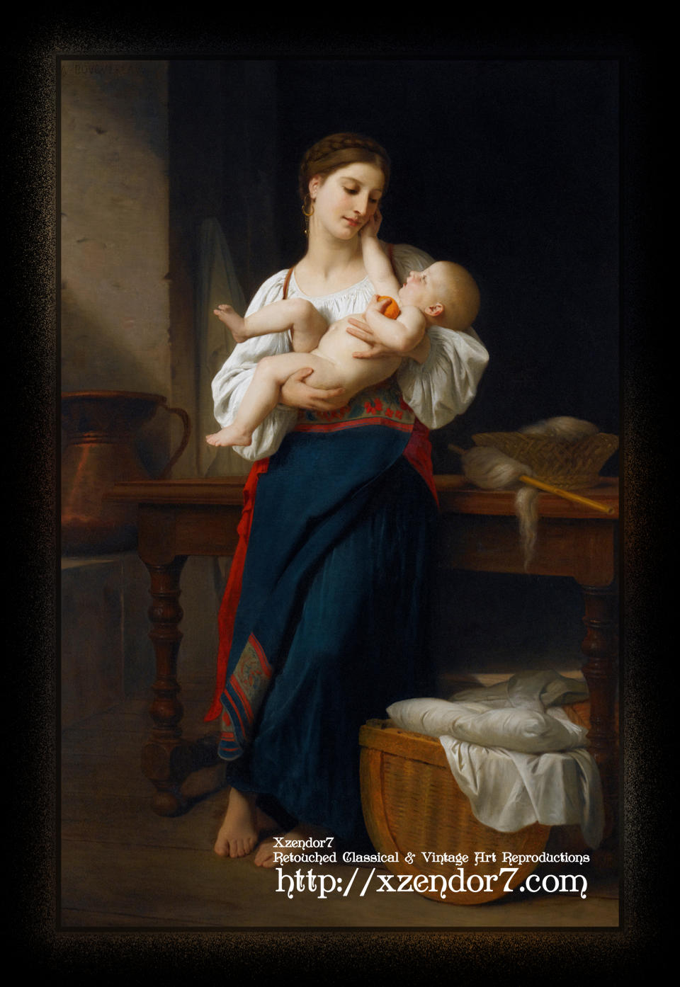 Mother and Child by William-Adolphe Bouguereau