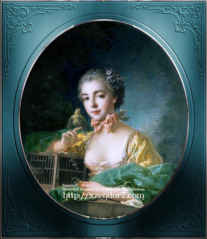 Portrait Of Madame Badouin, The Artist's Daughter by François Boucher