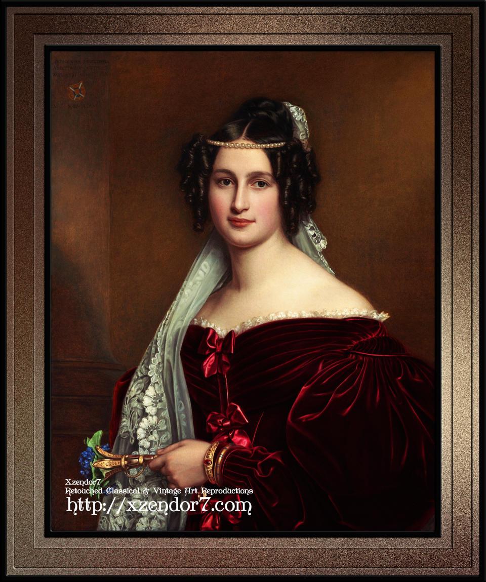 Portrait of Crescentia Bourgin by Joseph Karl Stieler