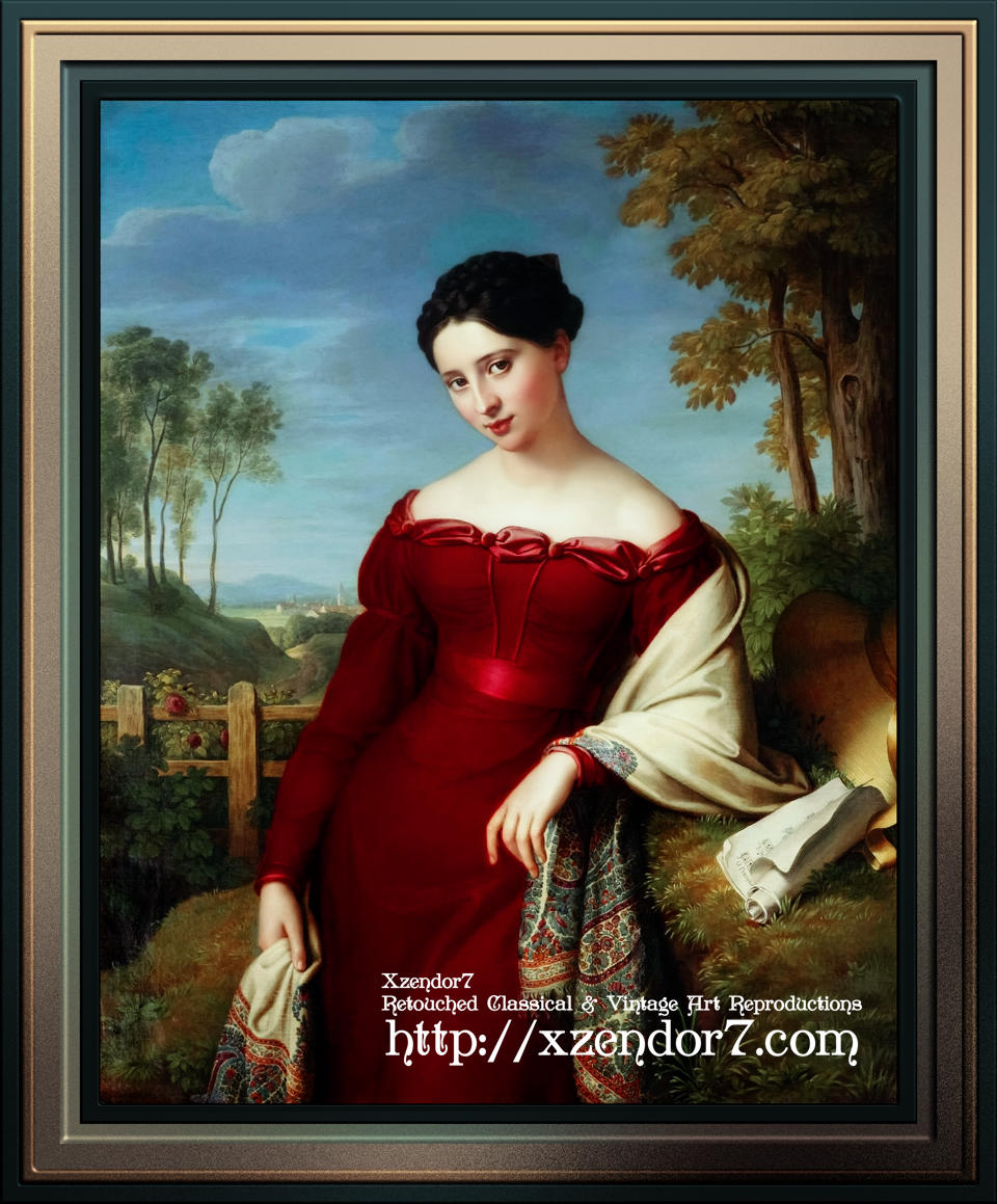 Portrait of a Young Lady by Eduard Friedrich Leybold