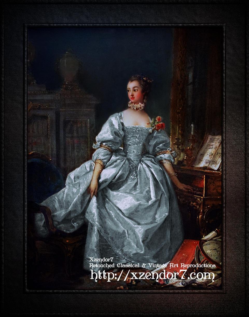 La Marquise de Pompadour by François Boucher