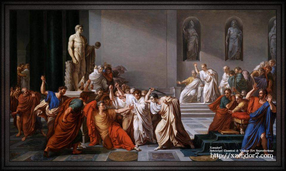 La morte di Cesare (The Assassination of Julius Caesar) by Vincenzo Camuccini