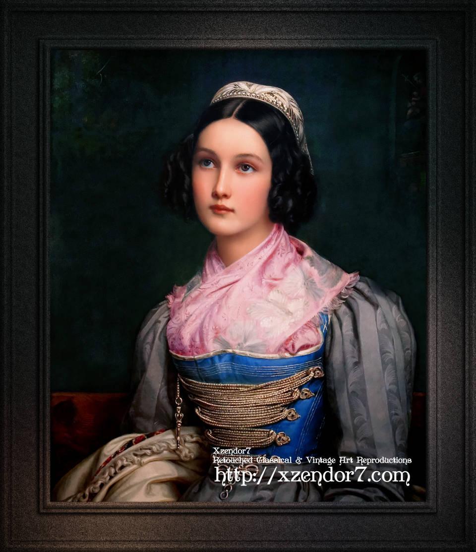 Portrait of Helene Kreszenz Sedlmayr by Joseph Karl Stieler