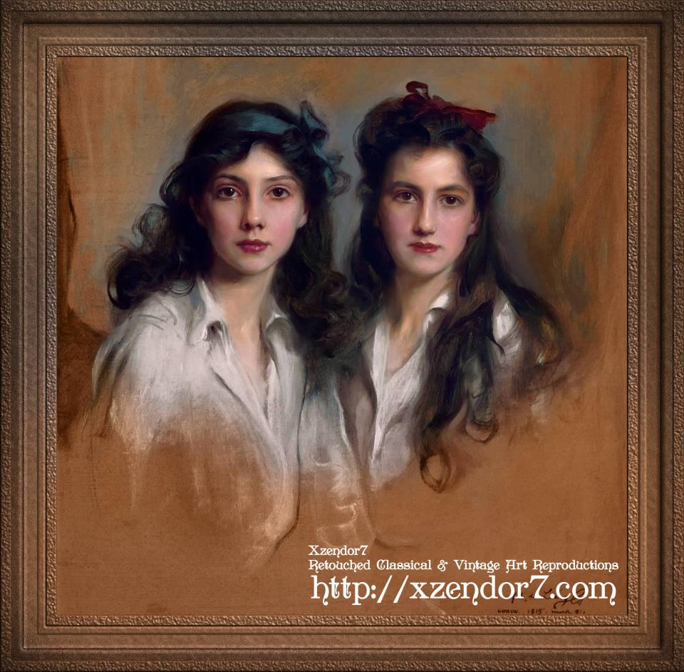 Princesses Xenia and Nyina Georgijevna of Russia by Philip de László